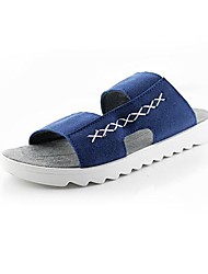 Suede Men's Flat Heel Open Toe Sandals Shoes(More Colors)
