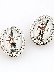 simple, Tour Eiffel strass boucles d'oreilles