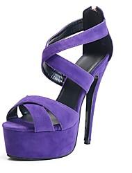 zapatos de plataforma de tacón de aguja bc de las mujeres que acuden sandalias con zapatos de cremallera