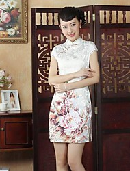 Women's  Embroidery Fashion Elegant Bodycon Chinese  Style Dress