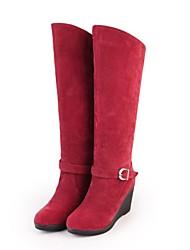 damesschoenen ronde neus sleehak knie hoge laarzen meer kleuren beschikbaar