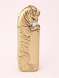 Adult Golden Silver Bronze Metal Tiger Lighter Toys