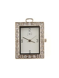 ZP 16GB Square Watch Pattern Crystal Jewelry Style with Clock USB Flash Drive