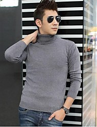 Men's High Neck Slim Casual Knitting Pullover Sweater