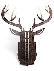Nord Creative européenne ornements de ménage mur Structure crantée bois Elk Head Ornements