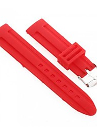 Unisex's Silicone Watch Band Strap 22MM (Red)