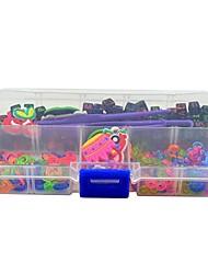 bandas de látex twistz bricolaje pulseras colgantes adornos y bolas de colores con estuche arco iris telar color para niños