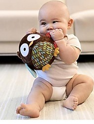 brinquedos de algodão macio bebê bola forma coruja chocalho