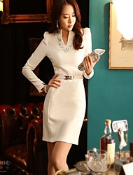 Women's Work Long Sleeve Dress