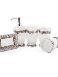 5 pièce résine collection de bain ensemble, ensemble de salle de bain, accessoires de bain ensemble