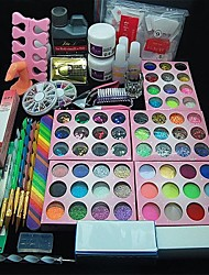 108PCS Acrylic UV Powder Glitter Glue Nail Art Tool Kit Set