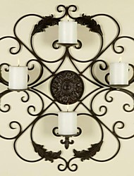 Metal Wall Art Wall Decor,European Style Candle Holder Wall Decor Does Not Contain The Candle