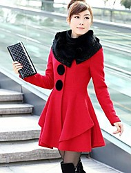 SANFENZISE™ Women's Big Dress Cloth Coat Woolen Cloth Coat