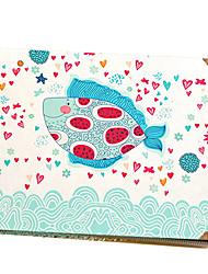 Paste Black Card Inside Design of Blue Fish Album