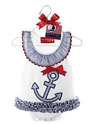 Girls Children's Cute Anchor Baby Grow Sleeveless Bodysuit Onesie Jumpsuit