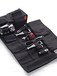 dualane bolsa rollo c00004 portátil recorrido de la lona para Hero GoPro 2/3/3 + - negro (talla M)