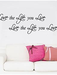 jiubai ™ жизнь цитата наклейки наклейки на стены