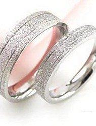 Fashion Pearl Sanded Lovers Titanium Steel Ring