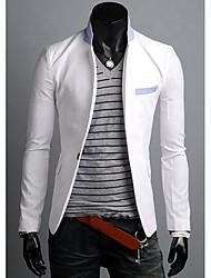 moda traje de un botón casual hombres Urun (blanco)