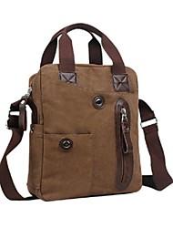 al aire libre de los hombres fashional-inclinada-hombro único negocio lona marrón bolsas de mano