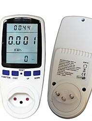 contador de energía ch, voltaje vatio monitor de voltímetro analizador con factor de potencia