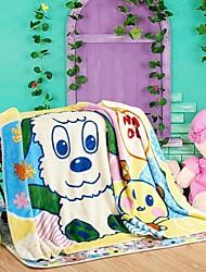 Consolador shuian® espessamento macio raschel lazer crianças cobertor com padrão cartoon cão koala