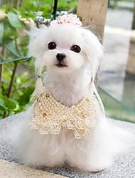 Todas las Estaciones - Blanco / Amarillo - Cosplay - Material Mixto - Corbata - Perros