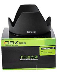 paraluce ew78d dbk per Canon EF 28-200 18-200 mm f / 3,5-5,6