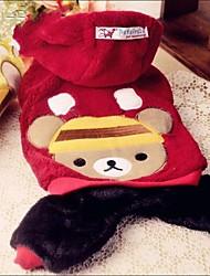 pet fashion lindo ursinho quatro pés de vestuário para animais de estimação cães (cores sortidas, tamanhos)