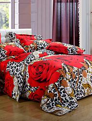 chenguang 3d imprimé textile de maison de quatre pièces ensemble