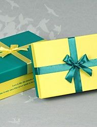 groene en gele kleur klassieke gift box-set van 2