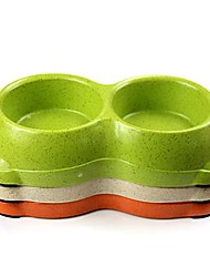 bobo 3099z vasilha fibra de bambu amigável estilo double ambiental cães fornece cores aleatórias de produtos para animais de estimação