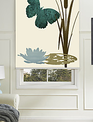 estilo simple pintura mariposa verde persiana