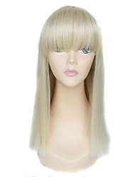 Capless High Quality Long Full Bangs Straight Synthetic Wig
