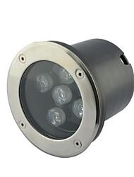 5pcs LED High Power 5W White Outdoors Underground Lamp (AC85-265V)