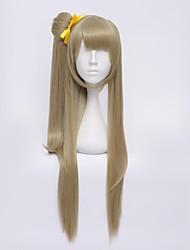 Perruques de Cosplay Aime la vie Kotori Minami Jaune Moyen Anime Perruques de Cosplay 65 CM Fibre résistante à la chaleur Féminin