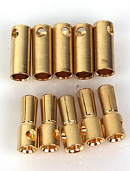 ZnDiy-BRY Gold Plated Banana Plug Jack Connector Set - Golden (5.5mm / 5 Pairs)