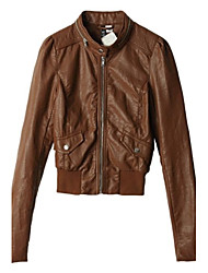 Women's Rock Leather Clothing All Matches Coat