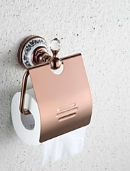 Contemporary Wall- Mount  Rose Gold Finish  Brass Toilet Paper  Holders