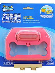 soleil extérieur déchets animaux de compagnie de chien outils pick-up et distributeur de sacs mis en couleur aléatoire sacs inclus