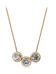 Daisy Women's Fashion Diamond Three Drops Of Tears Necklace