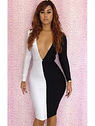 Riyue Women's Sexy Bandage Backless Bodycon Dress