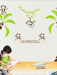 Кокосовая пальма и обезьяна формы пластиковые наклейки&ленты (1шт)