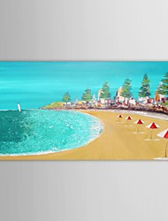 Hand Painted Oil Painting Landscape  Beach Scenery with Stretched Frame