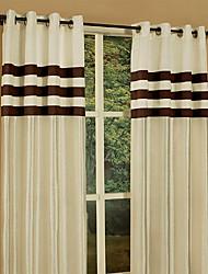(Un Panneau à oeillets Top) Faux soie à oeillets Top Window Curtain Panel