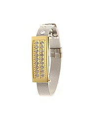 ZP 8GB Bracelet Pattern Golden Pedestal Crystal Jewelry Style USB Flash Drive