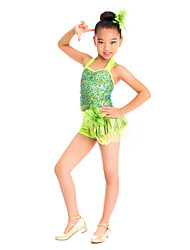 Ballet Dresses Women's / Children's Training Spandex / Sequined Flower(s) / Sequins
