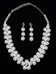 Alloy Necklace Earrings Suit