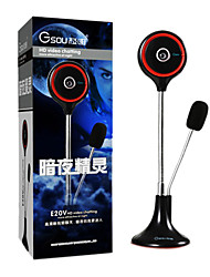 Gsou E20V High Definition UVC Webcam with Microphone for Desktop Computer and Laptop