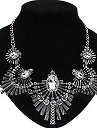 BEISHIQI Women's Statement Ethical Style Vintage Gem Necklace